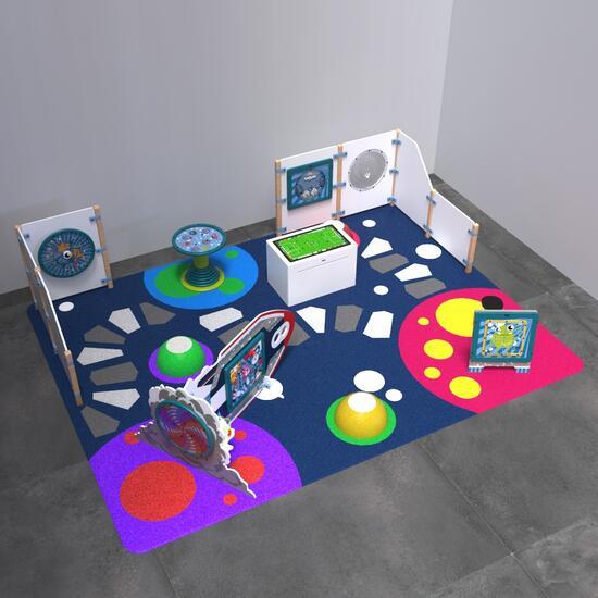 Op deze afbeelding staat een speelhoek Monster L 12 m²