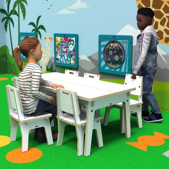 Op deze afbeelding ziet u kindermeubel buxus kindertafel wit