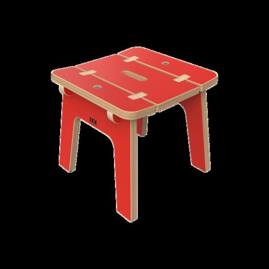 Rode houten kinderkrukjes   IKC Kindermeubels