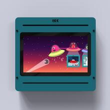 Op deze afbeelding staat een interactief speelsysteem Delta 21 inch Monster
