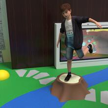 this image shows the tree stump, a concept for the play floor