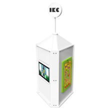 Interactieve speeltoren voor een kinderhoek met meerdere spellen interactief    IKC speelsystemen
