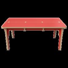 Houten tafel voor kinderen rood   IKC Kindermeubels