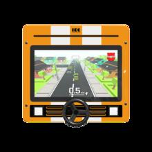 Interactief speelsysteem met auto race spel voor in de wachtkamer kinderhoek