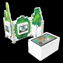 Een complete inrichting voor kinderen met interactieve speelsystemen