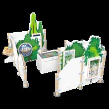 een complete speelhoek voor kinderen met wandspellen en interactieve speelsystemen